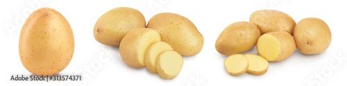 Carta da parati Young potato isolated on white background