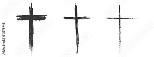 Slika na platnu Set hand drawn cross