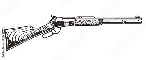 Fotografie, Obraz Old wild west american rifle