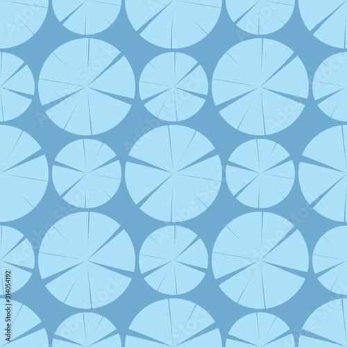 Plakat ścienna w niebieskich kolorach