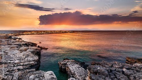 Fotografia, Obraz Fantastic colorful seascape during sunset