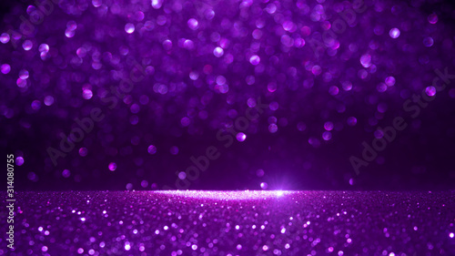 Purple bokeh,circle abstract light background,Purple shining lights, sparkling glittering Valentines day.