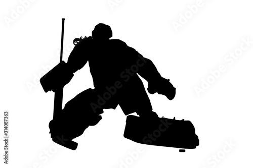 Fotografía Female  Ice Hockey Goalie Silhouette
