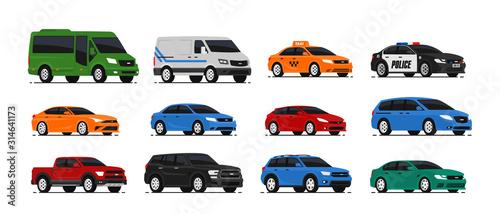 Obraz na płótnie Car icons collection