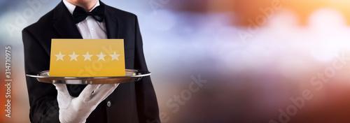 Fotografie, Obraz Waiter Serving Star Rating