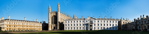 Photo Panoramic view of the historic buildings in Cambridge, UK