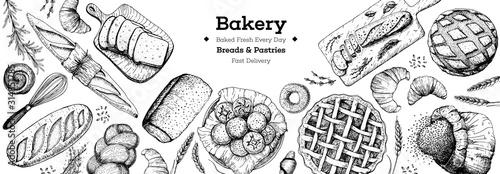 Stampa su Tela Bakery background