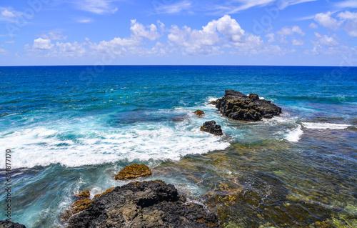 Obraz na plátne Beautiful seascape of Mauritius Island