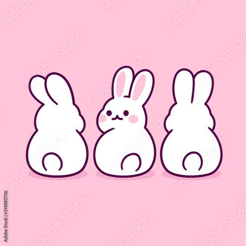 Fotografie, Tablou Cute cartoon bunnies