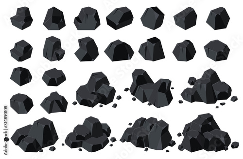 Canvas Print Coal of energy isolated cartoon icon