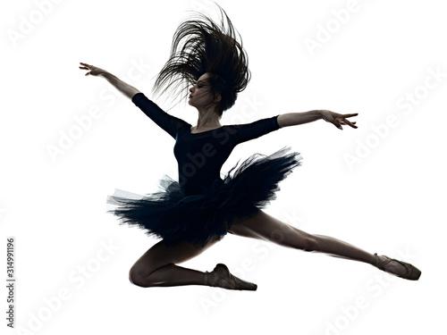 Foto one young beautiful long hair caucasian woman ballerina ballet dancer dancing st