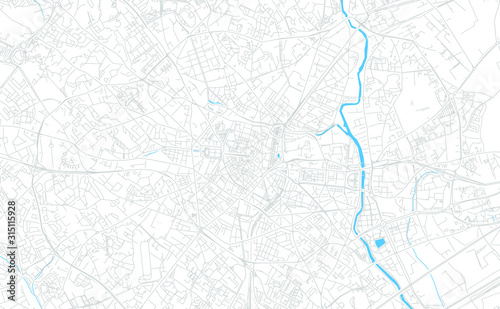 Photo Montpellier, France bright vector map