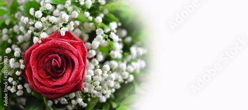 Obraz na płótnie Wedding bouquet isolated on white background