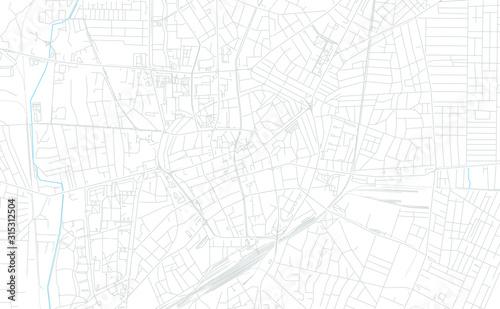 Obraz na plátně Debrecen, Hungary bright vector map