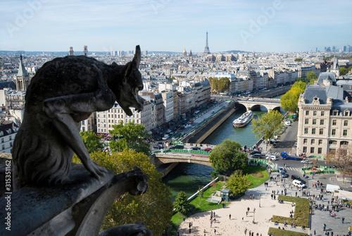 Obraz na plátne View from Notre Dame de Paris