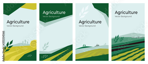 Valokuva Cover design with agriculture or farming concept