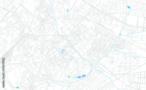 Fotografie, Obraz Bialystok, Poland bright vector map