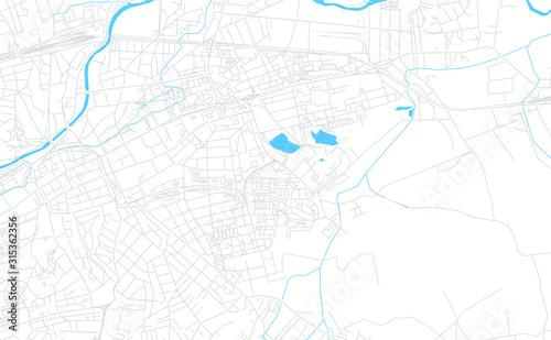 Photo Cluj-Napoca, Romania bright vector map