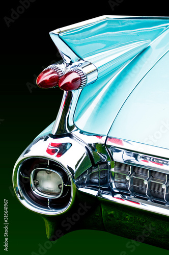 Fotomural blue cadillac tail light