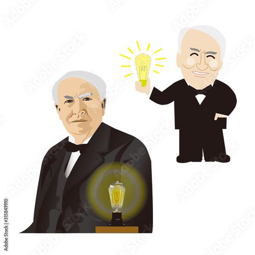 Obraz na plátne エジソン