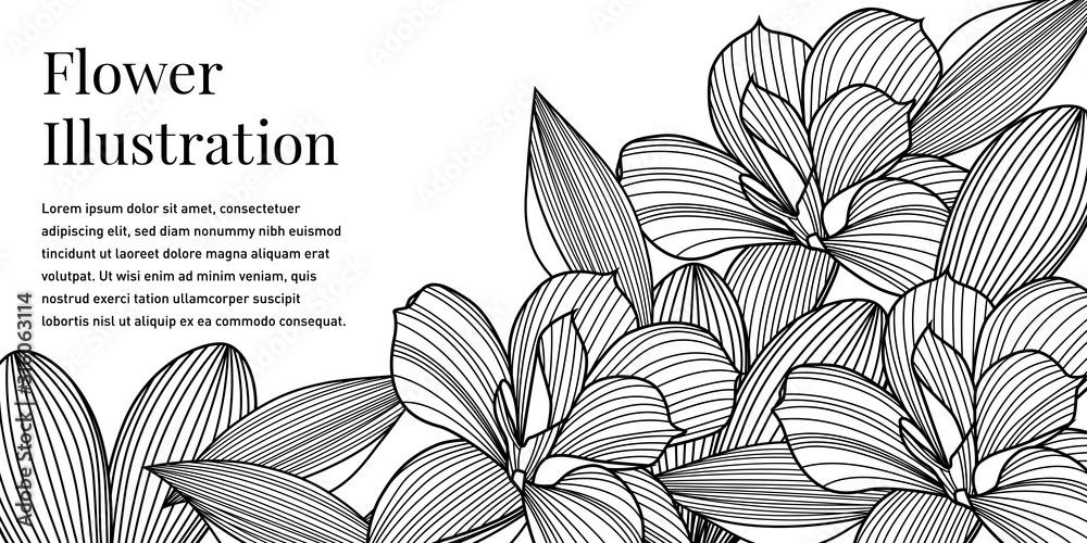 Black and White Floral Background <span>plik: #316063114   autor: Bitterheart</span>