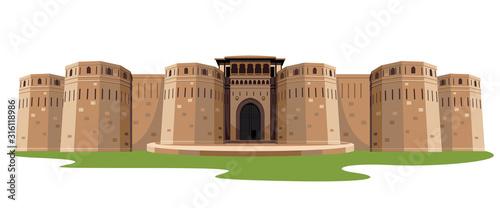 Fotografia, Obraz indian fort isolated vector