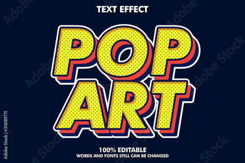 Fotografia Strong bold retro pop art text effect