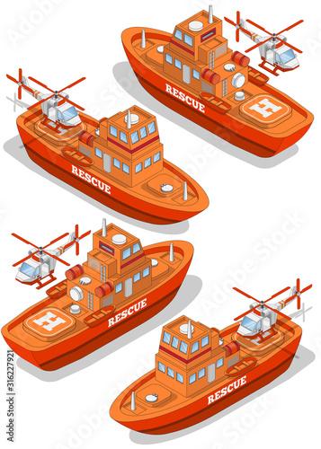 Canvas Print Rescue boat