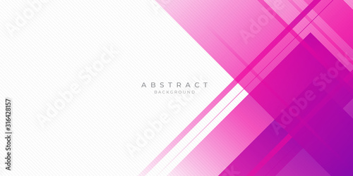 Modern pink purple abstract background with lines and square shape gradation color. Suit for presentation design and much more.