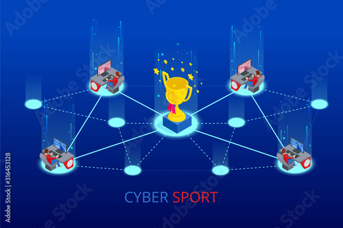 Canvas Print Isometric Cybersports competition