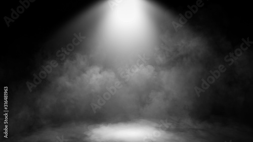 Fotografia Divine light through a dark fog