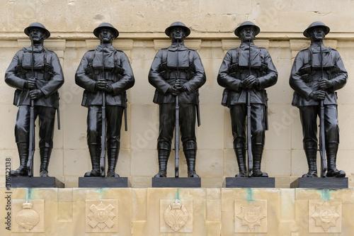 Canvas Print The Guards Memorial, Horse Guards Road, London, United Kingdom