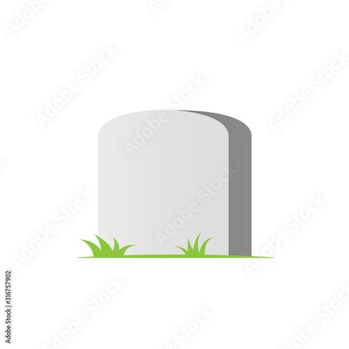 Obraz na plátně Blank headstone icon. Clipart image isolated on white background