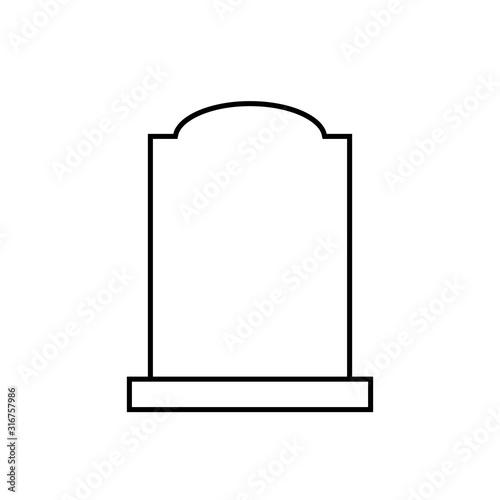 Obraz na plátně Blank headstone outline icon
