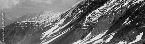 Thajwas Glacier in Sonmarg Kashmir under a fresh cover of snow