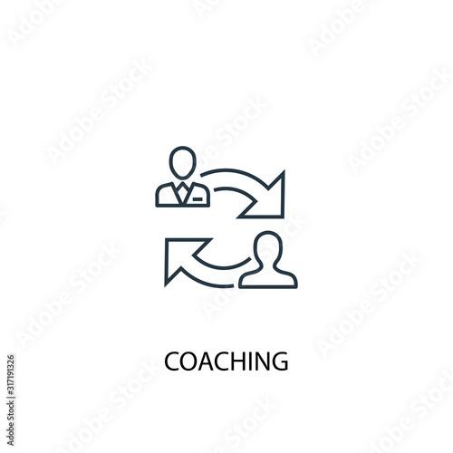 Cuadros en Lienzo coaching concept line icon