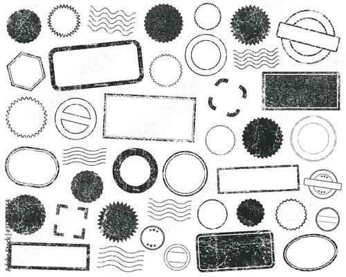 Valokuva Stamps frames vector icon shape set