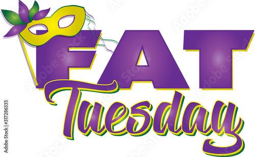 Fotografiet Fat Tuesday Banner