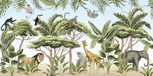 Fototapeta dżungla dla dzieci