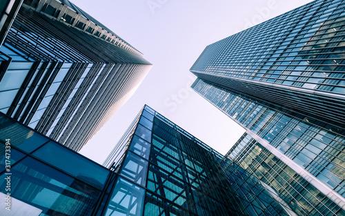 Vászonkép London Docklands skyscrapers