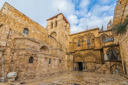 Carta da parati The Church of the Holy Sepulchre in Jerusalem - Israel