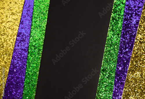 Canvas Print Shiny green, purple and golden pattern background