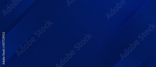Bright navy blue dynamic abstract vector background with diagonal lines. Trendy classic color of 2020. 3d cover of business presentation banner for sale event night party. Fast moving soft shadow dots