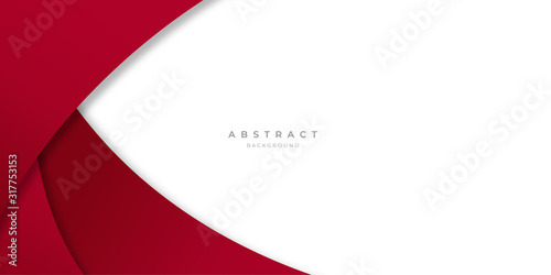 Modern Simple Red White Abstract Background Presentation Design