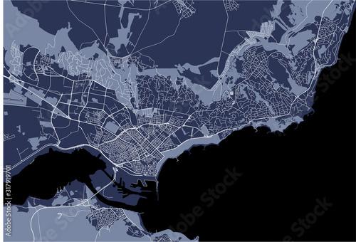 Fotografie, Obraz map of the city of Varna, Bulgaria