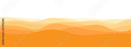 Tablou Canvas Soft horizontal golden yellow waves in white background