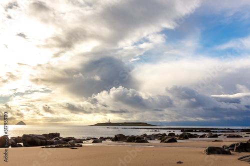 Billede på lærred Pladda and Ailsa Craig from Kildonan Beach, Isle of Arran