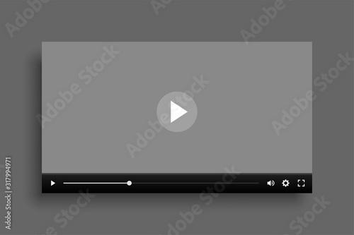 Fotografia video multimedia player mockup template design for web