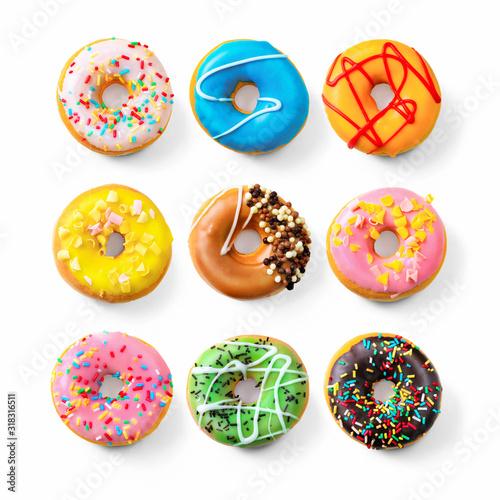 Various colourful donuts Fototapeta