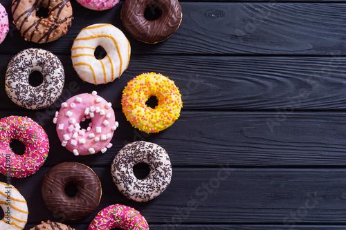 Beauty assorted donuts Fototapet